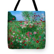 Field Of Cosmos Tote Bag
