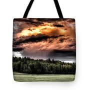Field Of Dreams From Rain Above  Tote Bag