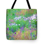 Field Of Flowers In Nature Tote Bag