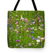 Field Of Flowers Tote Bag by Leyla Ismet