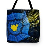 Field Of Force - Yellow Blue And Black Abstract Fractal Art Tote Bag by Matthias Hauser