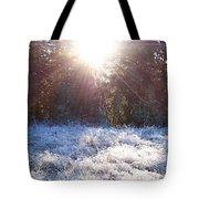 Field Of Frost Tote Bag