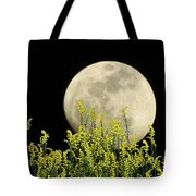 Field Of Gold By Moonlight Tote Bag