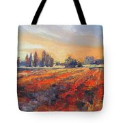Field Of Light Oil Painting Tote Bag