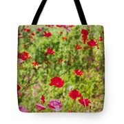 Field Of Poppies Digital Art Prints Tote Bag