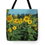 Field Of Smiley Faces Tote Bag