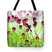 Field Of Tulips - Photopower 1492 Tote Bag