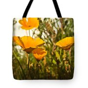 Field Of Yellow Poppies Tote Bag