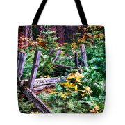 Fields And Fences Of Wawona In Yosemite National Park Tote Bag