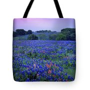 Fields Of Blue Tote Bag