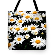 Fields Of Daisies Tote Bag