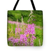Fields Of Fireweed Tote Bag