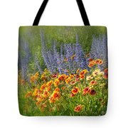 Fields Of Lavender And Orange Blanket Flowers Tote Bag