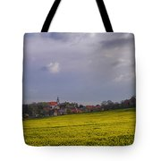 Fields Of Rapeseed In Bloom, Lower Tote Bag