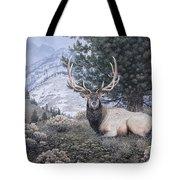 Fields Peak Elk Tote Bag