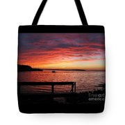 Fiery Afterglow Tote Bag