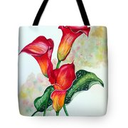 Fiery Callas Tote Bag