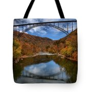 Fiery Colors At New River Gorge Bridge Tote Bag
