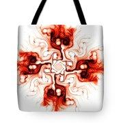 Fiery Cross Tote Bag by Anastasiya Malakhova