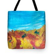Fiery Fall In The Hills Tote Bag