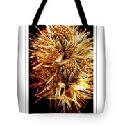 Fiery Floral Tote Bag
