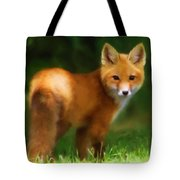 Fiery Fox Tote Bag by Christina Rollo