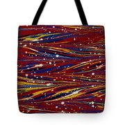 Fiery Lava Flow Abstract Tote Bag by Karon Melillo DeVega