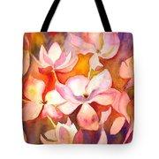 Fiery Magnolias Tote Bag