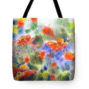 Fiery Poppies Tote Bag