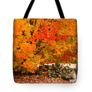 Fiery Rock Wall Tote Bag