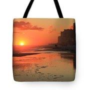 Fiery Seashore Tote Bag