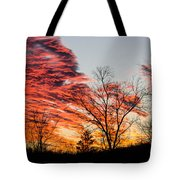 Fiery Sundown Tote Bag