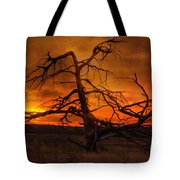 Fiery Sunrise Tote Bag by Photography by Laura Lee