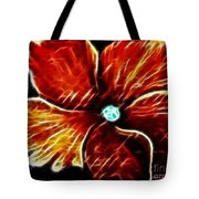 Fiery Violet Expressive Brushstrokes Tote Bag