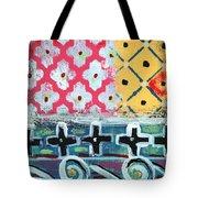 Fiesta 6- Colorful Pattern Painting Tote Bag by Linda Woods