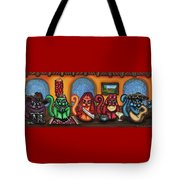 Fiesta Cats Or Gatos De Santa Fe Tote Bag