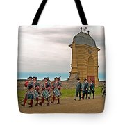 Fife And Drum Parade In Louisbourg Living History Museum-1744-ns Tote Bag