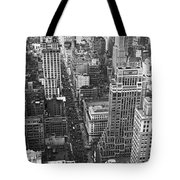 Fifth Avenue In New York City. Tote Bag