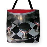 Fifties Diner Detail Tote Bag