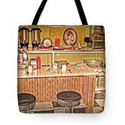 Fifty's Lunch Counter  Nostalgic Tote Bag