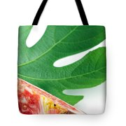 Fig And Leaf Tote Bag