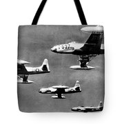 Fighter Jet Against Communists Tote Bag