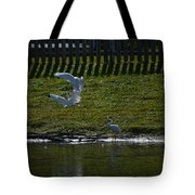 Fighting Birds Tote Bag