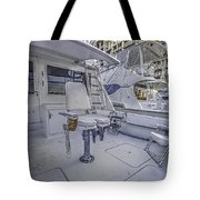 Fighting Chair Tote Bag