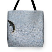 Fighting Chinook Salmon Tote Bag
