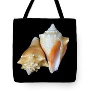 Fighting Conch Seashells Tote Bag
