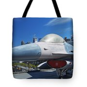 Fighting Falcon At Interpid Museum Tote Bag