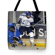 Fighting For The Puck Tote Bag