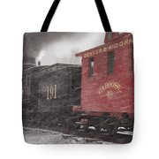 Fighting Through The Winter Storm Tote Bag by Ken Smith