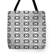 Figure 8 Black And White Pattern Tote Bag